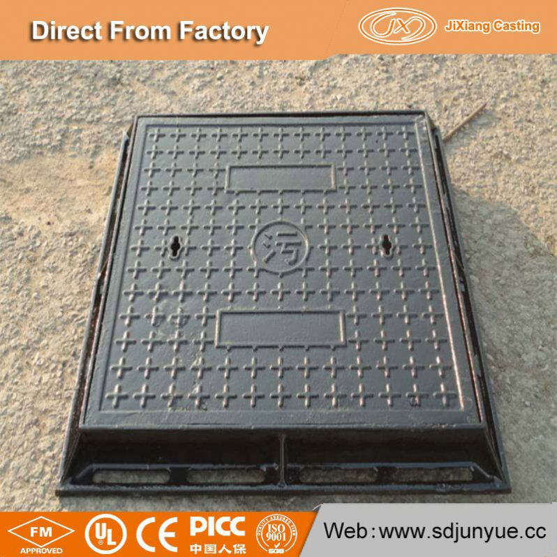 Professional China Foundry Vented Ductle Cast Iron Manhole Cover With Price