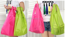 Bag Square Pocket Shopping Bags Candy Colors Available Eco-friendly Reusable Folding Portable Handle Nylon Bag