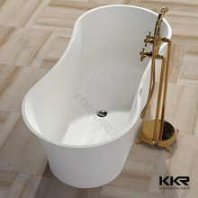 Flower shape white freestanding bathtubs , bathroom tubs and showers