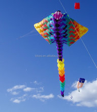 outdoor giant colorful advertising flying inflatable fish kite for sale and event