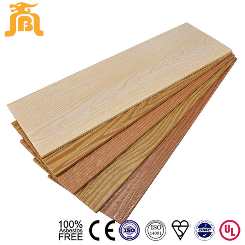 High Quality Waterproof Prefab Wooden House Fiber Cement Board Cedar Wood Textured Wall Panel