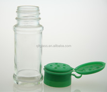 Cruet glass spice jars with lid wholesale chinese supplier condiment