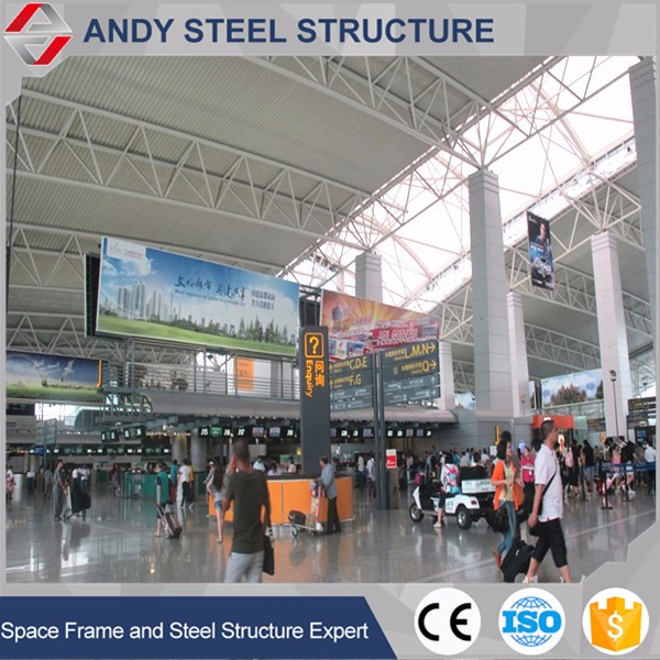 Steel roof truss systems for airport roofing