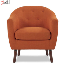 Various Colors Fancy Hotel Wooden Foot Fabric Leisure Dining Room Chair