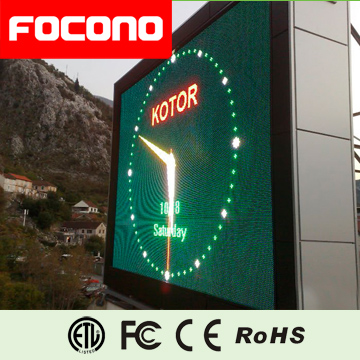 Big waterproof Buildings and stadium clock led display
