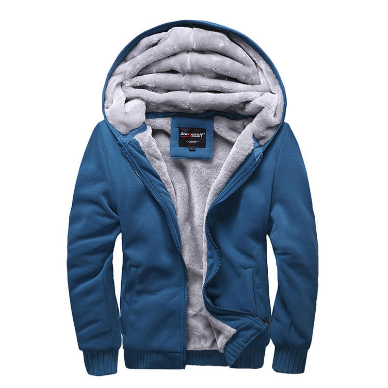 2015 Autumn/winter mens high quality sport hooded jacket,men's casual add wool warm coat,men leisure fashion zipper hoodies