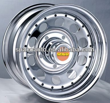 various size white spoke truck wheels for Jeep