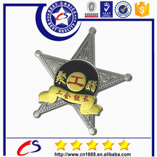 Shenzhen arts cheap badge metal star badge with good price