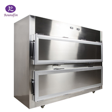 Mortuary refrigerator body storage coolers with side opening with 2 corpses