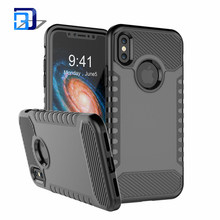 Cell Phone Shock Proof Dual Layer Hard PC Cover + TPU Silicone 2 in 1 Hybrid Anti-Scratch Protective Case For iPhone X