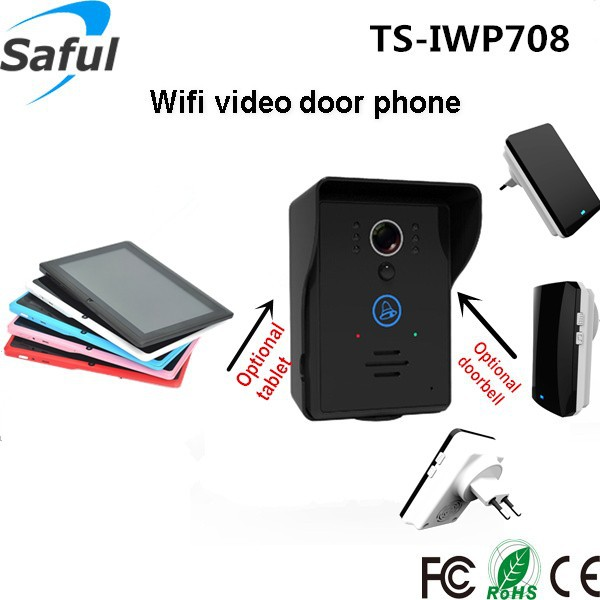 Saful wifi door phone mobile smart phone control wifi wireless long range wireless video intercom