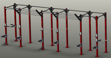 Monkey Crossfit Rack Super Tall Pull Up Bar Handles Dip Station NEW Rig System