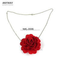 Fancy Necklace With Artificial Rose Flower