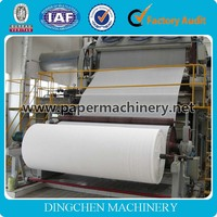 2016 Hot Sale Waste Paper Recycling Machine 1092mm Toilet Tissue Paper Manufacturing Machinery