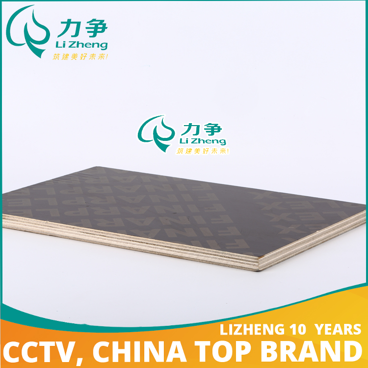 Brown film faced tongue and groove plywood