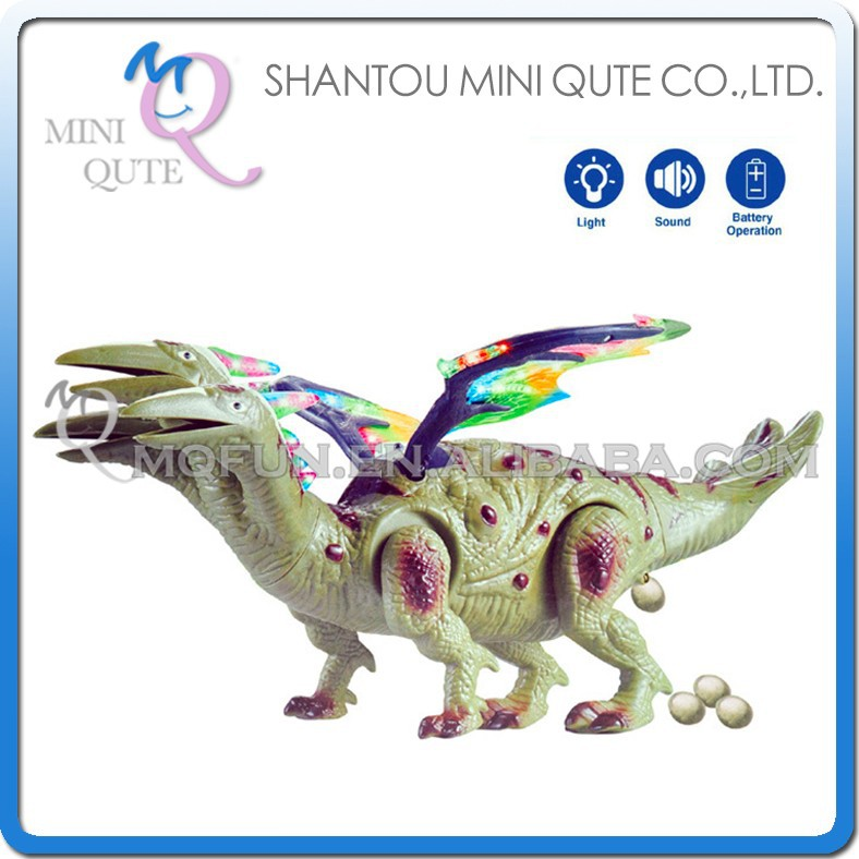 Mini Qute 43 cm plastic Godzilla Jurassic Park sound flash walk electronic dragon Dinosaur Lay Eggs Hydreigon model toy NO.2021