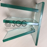 Thickness 8mm/ 10mm/ 12mm/ 15mm Guarantee Quality Toughened Tempered Glass Used For Custom Glass Wall Factory Supply