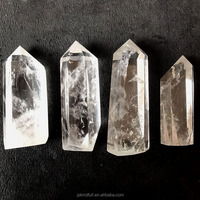 Wholesale natural raw clear white quartz crystal wand for healing