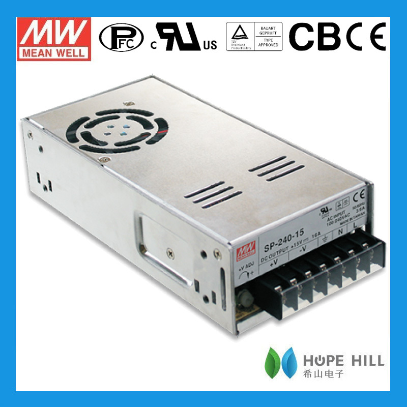 Meanwell SP-240-12 Single Output 240W PFC cctv power supply box