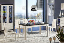 CT3310 & CY3306 high gloss dining table and chair
