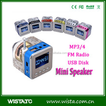 Portable mini speaker with fm radio,mini music car speaker manual,af mini digital speaker