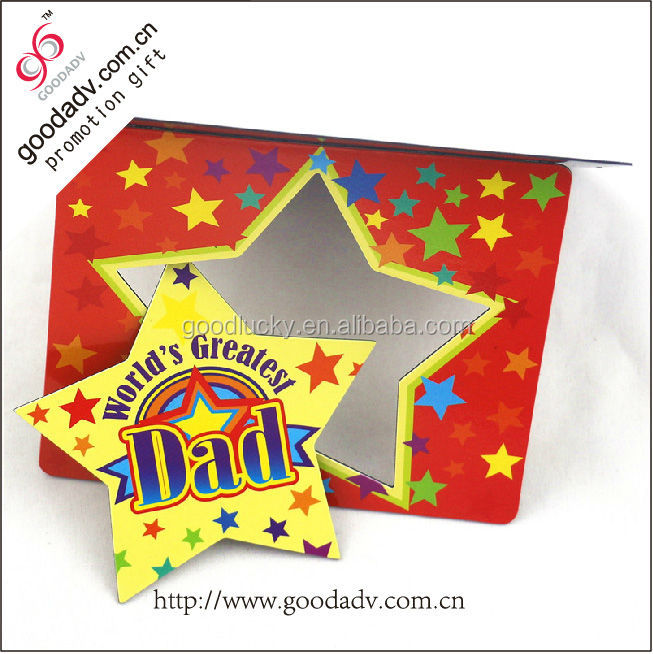 2015 The most popular gift star shaped photo frame