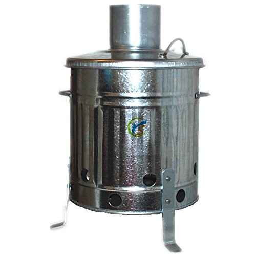 Galvanised 15L Small Fire Bin Mini Garden Incinerator