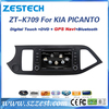 ZESTECH High quality HD double din car stereo For Kia PICANTO car dvd player Supporting USB SD SWC fm radio rearview camera