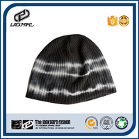 Mechanized plain dyed loose dad hat knitted cap with big size