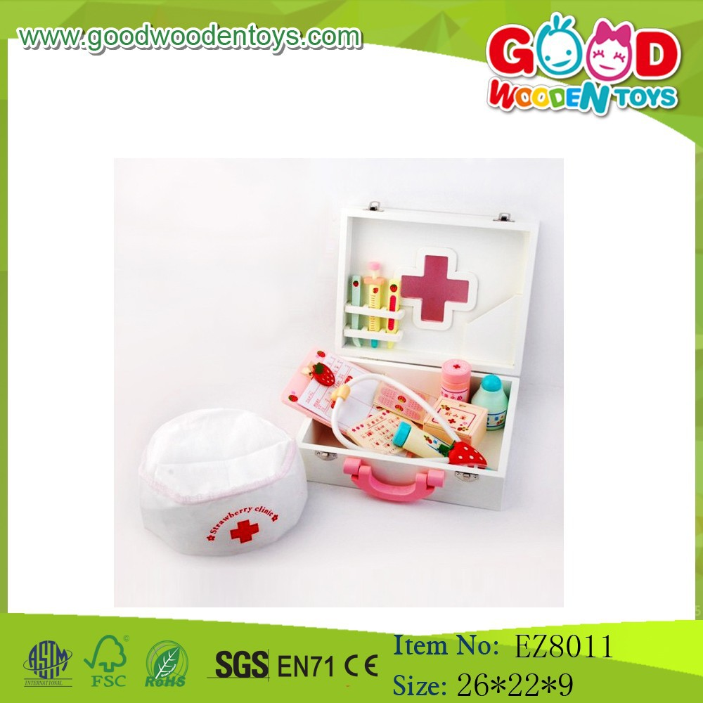 good price wooden preschool toys doctor set toys pretend play doctor set