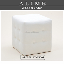 ALIME EOT1001 modern white leather cube ottoman