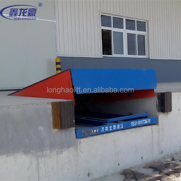 China electric hydraulic dock leveler/ fixed truck loading unloading ramp