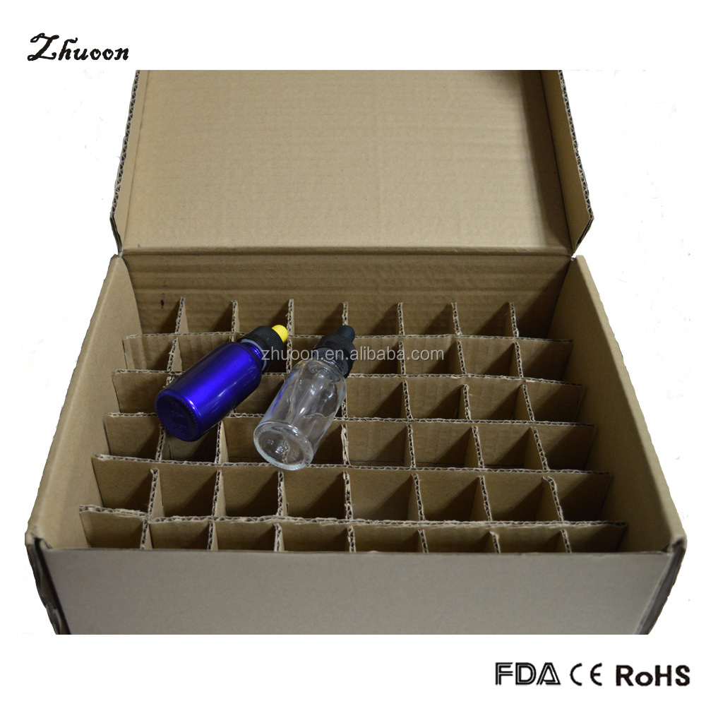 square brown glass eliquid vapor bottle foldable paper box