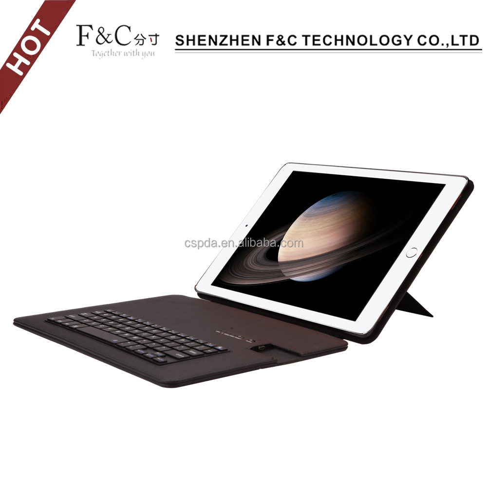 Non-slip magnetic closure folio bluetooth keyboard stand pu leather 10 inch tablet hard case for apple ipad air 1 2 3