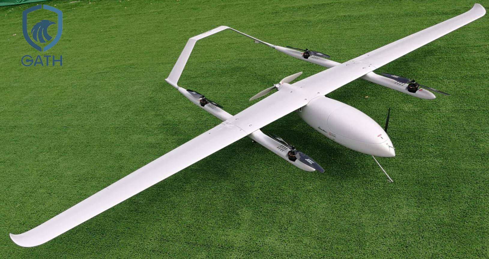 Electric power VTOL Vertical Takeoff and Landing Fixed Wing UAV 2 hours long flight duration UAV