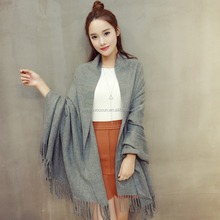 Tassel imitation cashmere dual - use shawl scarf thick warm autumn and winter scarf long scarf