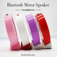 big sound portable audio player enjoy music mirror mini Bluetooth Speaker with DIY picture