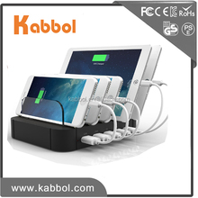Kabbol New Arrival 6A USB Charging Station Docking Organizer Charging Station Desktop Docking with Detachable Baffles