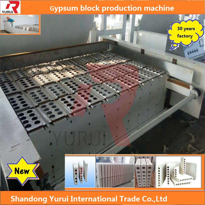 buy China gypsum machinery, forming mold machine to make hollow Gypsum block