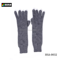 Fancy Women Winter Pure Cashmere Knit Hand Gloves , Well-Designed Warm Winter Knit Gloves