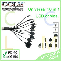 Universal 10 in 1 USB Multi Charger Retractable Phone Cable For Mobilephone