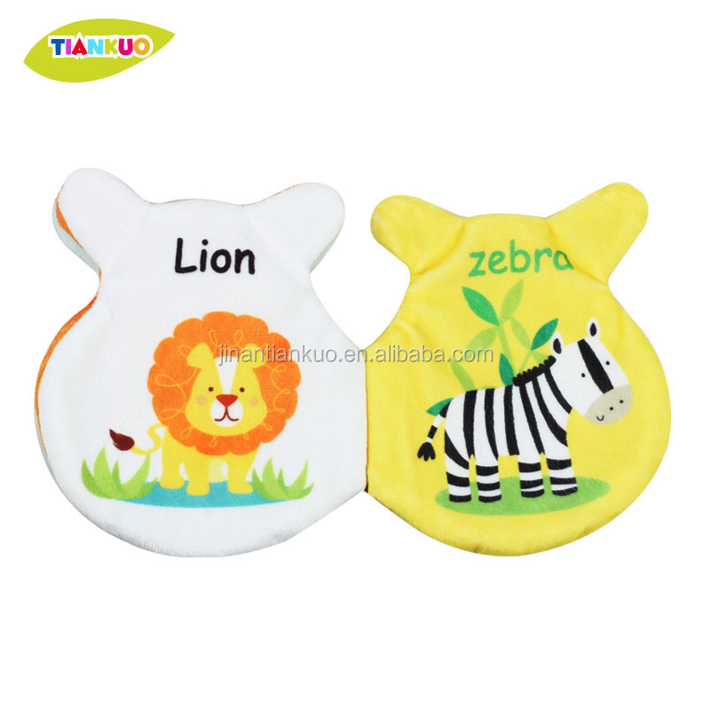 Polyester material printing colorful baby soft cloth book