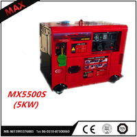 High Quality Air Cooled Electric Start Electric Diesel Generator 5kw Silenced Genset Price 50kva