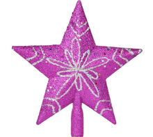 Purple Shinny Christmas Decoration Star