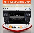 HIFIMAX Android 4.4.4 quad core 16G car radio for Toyota Corolla car stereo car multimedia system 2 din touch screen HD 1024*600