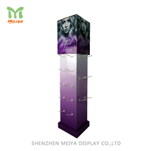 Promotion Retail Supermarket Sales Corrugated Cardboard Hook Display For Hair Extension Accessory