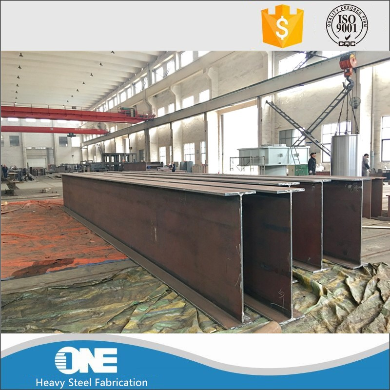 welding fabrication large galvanized steel structure weld h beams