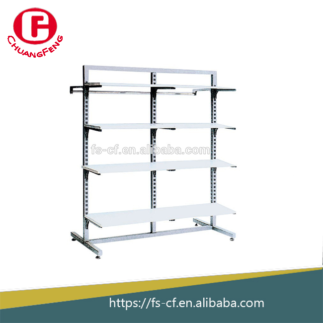 Goods metal shelf / wood iron <strong>rack</strong> / pipe series goods shelf