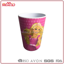 Children safety unbreakable pretty printing melmine kids drink cup plastic tumbler