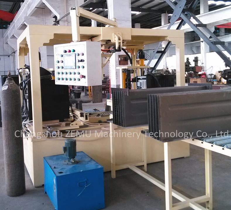 transformer corrugated fin wall machine